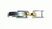 Two Tone Fold Over Watch Bracelet Clasp Extender 2.87mm