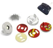 Housweety 20 Sets Silver Tone Magnetic Purse Snap Clasps/ Closure Purse Handbag 18mm Dia