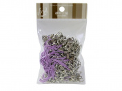 100 (Approx.) Pale Purple Mobile Phone Strap Strings with Silver Lobster Clasps [Toys & Crafts]