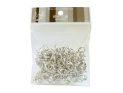 14 mm x 8 mm White-Silver Lobster Clasps (Apprix. 100)[Toys & Crafts]