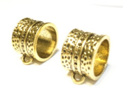 Scarf Jewellery Metal Leopard Scarf Tube Bails Gold Tone 4pcs Receive In 4 Days