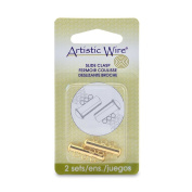 Artistic Wire 3-Strand Slide Clasp for Jewellery, Gold, Set of 2