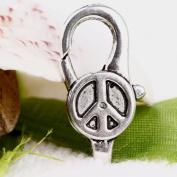 20pc Tibetan Silver Peace Lobster Lock Clasps 28x12mm CA451