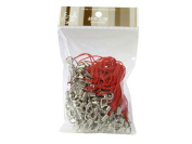 100 (Approx.) Red Mobile Phone Strap Strings with Silver Lobster Clasps [Toys & Crafts]