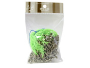 100 (Approx.) Lime Green Mobile Phone Strap Strings with Silver Lobster Clasps [Toys & Crafts]