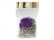 100 (Approx.) Purple Mobile Phone Strap Strings with Silver Lobster Clasps [Toys & Crafts]