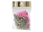 100 (Approx.) Pink Mobile Phone Strap Strings with Silver Lobster Clasps [Toys & Crafts]