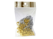 100 (Approx.) Silver Mobile Phone Strap Strings with Gold Lobster Clasps [Toys & Crafts]