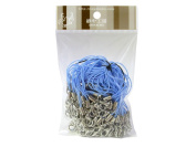 100 (Approx.) Aqua Blue Mobile Phone Strap Strings with Silver Lobster Clasps [Toys & Crafts]