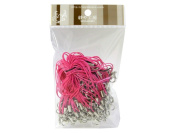 100 (Approx.) Shocking Pink Mobile Phone Strap Strings with Silver Lobster Clasps [Toys & Crafts]