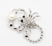Lady Wedding Ball Lady Gift Party Scorpion Real Freshwater Pearl Beads Fashion Brooch Pin