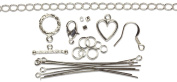 Cousin Jewellery Basics Starter Pack, Silver, 145-Piece