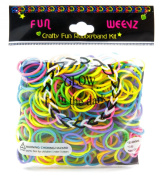 Funweevz Glow In The Dark Neon Multicolor Rubberbands Bands kit