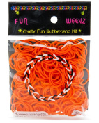 Fun Weevz Neon Orange Rubber Bands Kit