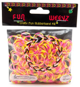 Fun Weevz Neon Pink/Yellow Tie-Dye Rubberbands Bands Kit