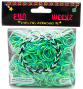 Fun Weevz Neon Green/Turquoise Tie-Dye Rubberbands Bands Kit