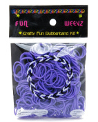 Fun Weevz Neon Purple Rubber Bands kit