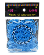Fun Weevz Medium Blue Rubber Bands kit