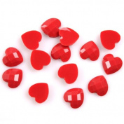 150pcs Red Heart-shaped Turtle Face Resin Charms,Buttons,Beads