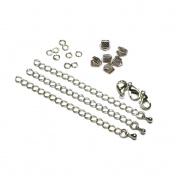 6mm or 3/8 inch Silver Ribbon Choker Bracelet Hardware Kit