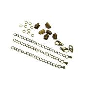 10mm or 3/8 inch Antique Bronze Ribbon Choker Bracelet Hardware Kit