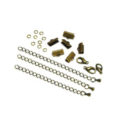 13mm or 1/2 inch Antique Bronze Ribbon Choker Bracelet Hardware Kit