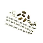 13mm or 1/2 inch Antique Bronze Ribbon Choker Bracelet Hardware Kit