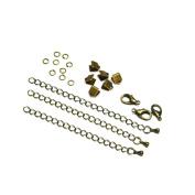 6mm or 3/8 inch Antique Bronze Ribbon Choker Bracelet Hardware Kit