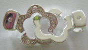 . Clear/AB Flower Clasp (1)
