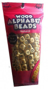 Kids Jewellery Wood Alphabet Beads Natural