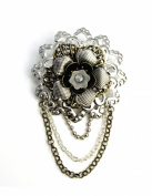 EK Success Brands Laliberi Brooch Kit, Stacked Metal Flowers