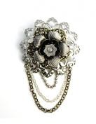 EK Success Brands Laliberi Brooch Kit, Stacked Metal Flowers