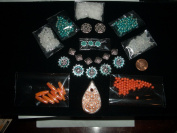 Turquoise Copper Silver Clay Pendant Jewellery Bead Kit Lot Fe