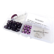 Fiona CR-1206 Crystal and Pearl Beads Rosary DIY Kit