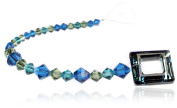 CREATE YOUR STYLE with. ELEMENTS Square Ring Strand, Bermuda Blue