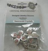 . Pink Flower & Leaf Clasp Bracelet Kit