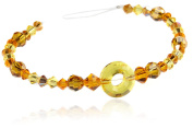 CREATE YOUR STYLE with. ELEMENTS Ring Bead Strand, Light Topaz