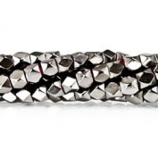 Black Gold plated Copper Bead Faceted Nugget 4mm, Hand Polished