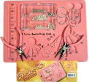 Silver Earring & Bracelet Jewellery Starter Kit Complete with Board, Findings, Pliers!