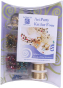 "Art Night Out Party Kit for Wire Jewellery Necklaces or Bracelets, Gold with ""Hot"" Colours"