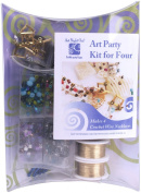 """Art Night Out Party Kit for Wire Jewellery Necklaces or Bracelets, Gold with """"Cool"""" Colours"""