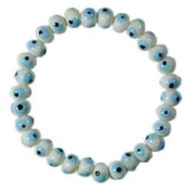 White Blue Evil Eye Bracelet
