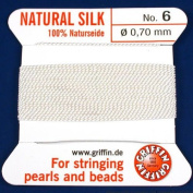 Gryphon Silk Thread Cord Size No 6 - White