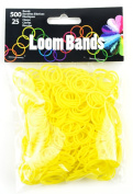 Touch of Nature Loom Bands Value Pack for Jewellery, Includes Band and Clasps, Yellow