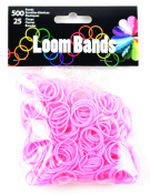Touch of Nature Loom Bands Value Pack for Jewellery, Includes Band and Clasps, Light Pink