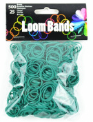 Touch of Nature Loom Bands Value Pack for Jewellery, Includes Band and Clasps, Dark Green