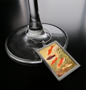 Single Large Rectangle Photo Wine Charm Tag
