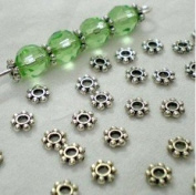 200pcs Tibetan Silver Daisy Spacer Metal Beads 4mm ~Jewellery Making~