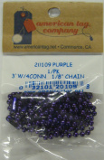 3'w/4conn 0.3cm Ball Chain-purple
