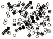 Cousin Jewellery Basics 2mm Crimp Tube/Bead, Gunmetal, 500-Piece
